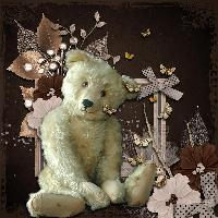 Vintage Bear in Brown and Cream