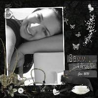 Sammi black and white
