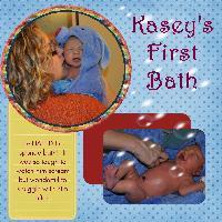 Kasey's First Bath