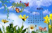 Wallpaper Calendar March 2011
