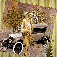 Roaring Twenties golden girl