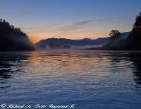 August Sunrise on the Skagit River