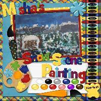 Misha' Snow Scene Painting 09/09/2011