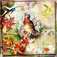 Vintage Autumn Collage