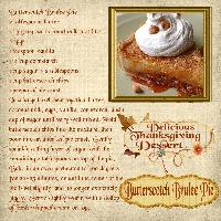 Holiday Recipe/Butterscotch Brulee