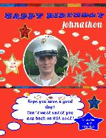 Johnathon's Birthday Card