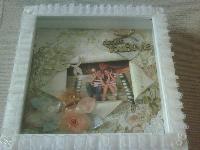 8' wedding scrap frame...