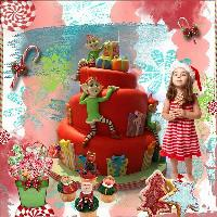 Pretty Christmas Candy, Cookies or Cakes