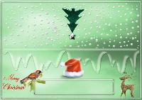 christmas name place card