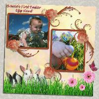 Gracie's First Easter Egg Hunt