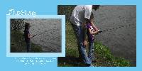 A grouping of fishing pictures