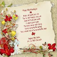 SBF Friends......May Birthdays