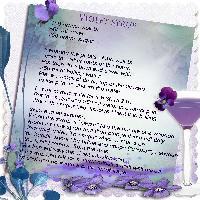 Violets syrup recipe