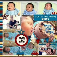 Happy 1 month Birthday Baby!