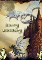 Dragon Birthday Card 2012