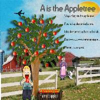 A is the appletree, farm theme