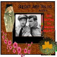 Sheriff Taylor and Deputy Barney