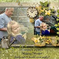 Potting with Grandpa....