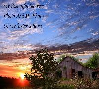 Old Barn Sunrise Photo