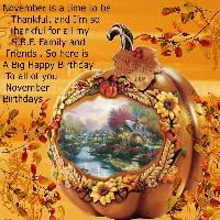 SBF Novermber Birthdays