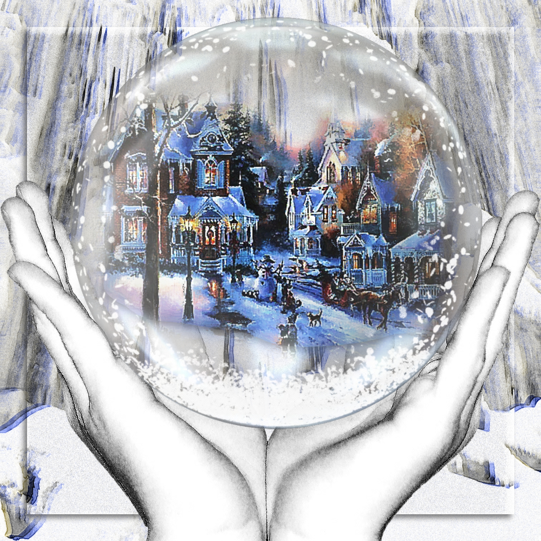 Image result for digital snow globe painting