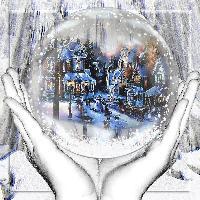 Hands Holding Snowglobe