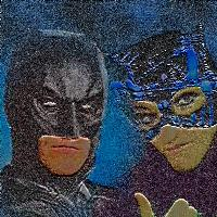Batman with my daughter 001