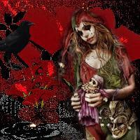 Ravished gothic clown