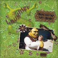 Laughing with Shrek