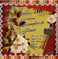 HAPPY 7TH  BIRTHDAY SCRAPBOOK FLAIR