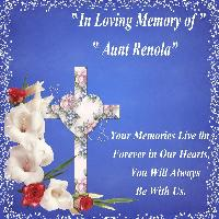 A Tribute to Aunt Renola