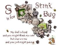 S is for Stink Bug (AlphaBug Theme)