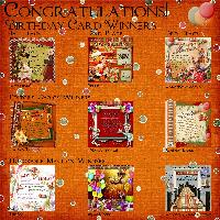 Scrapbook Flair Birthday Challenge Winners 2013