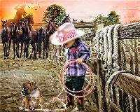 The little Cow Girl