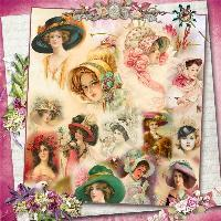 Vintage Hat Collage