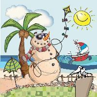 SNOWMAN IN SUMMER