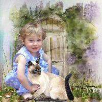 ZOE WITH CAT