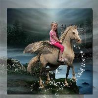 Jasmine on the flying horse