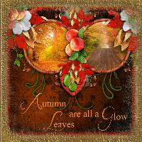 Autumn Leaves with Overlay