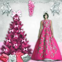 My Pink & Silver Christmas Eve Party