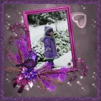 Colorful Christmas in Purple & Pink