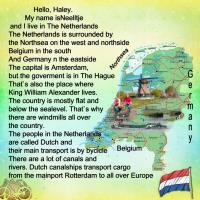 About the Netherlands for Haley
