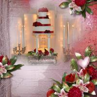 Dirk & Lyndsey's Wedding Cake