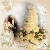 Kaleys and Troys Wedding Cake