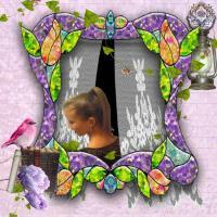 Victorian Rose frame