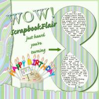 4 ScrapbookFlair's 8th Birthday Celebration