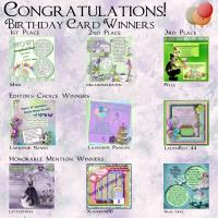 Scrapbook Flair Birthday Card Winners 2014