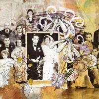 Photo de mariage de mes arrieres grands parents