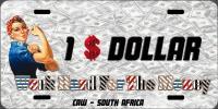 Dollar $ Numberplate