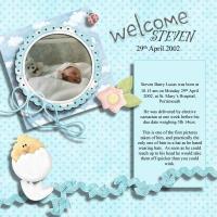 When Steven was born
